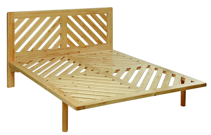 Base Letto Legno : Letto legno massello doghe diagonali la casa econaturale