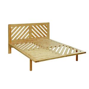 letto legno massello doghe diagonali