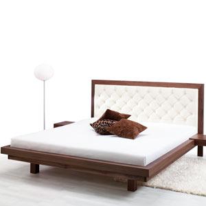 letto legno e pelle Julia Royal