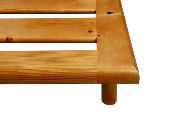 Rete legno massello capalbio la casa econaturale - Rete letto legno ...