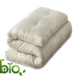 Futon cotone biologico e lattice naturale