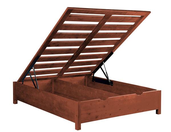 Letto contenitore legno massello Idea - La Casa Econaturale