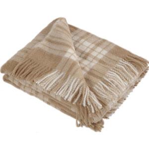 Plaid lana alpaca Brun de Vian Tiran Plaid lana alpaca Brun de Vian Tiran cammello scozzese