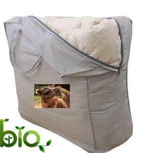 piumone lana cammello e cotone bio