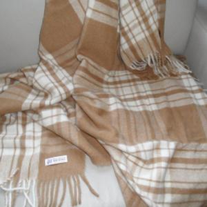 Plaid lana baby alpaca Brun de Vian Tiran