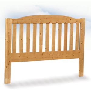 Testata letto legno massello Casale arrotondata