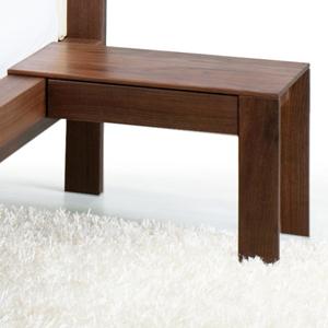 Comodino legno massello Julia