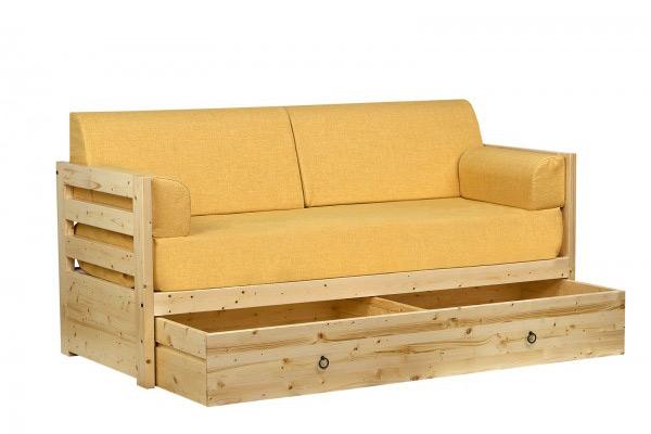 Letto con sottoletto legno massello Estro - La Casa Econaturale
