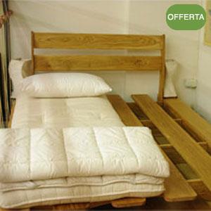 Letto legno massello rovere Sanuki