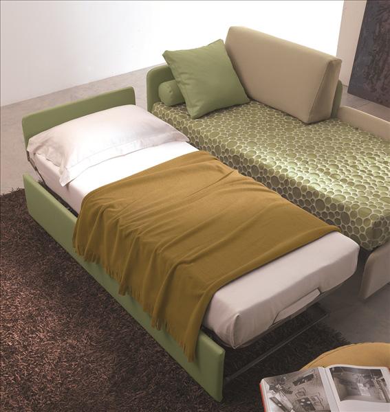 Letto singolo con letto estraibile - La Casa Econaturale