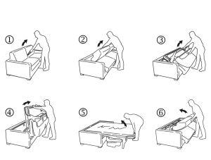 Apertura divano letto materasso 18
