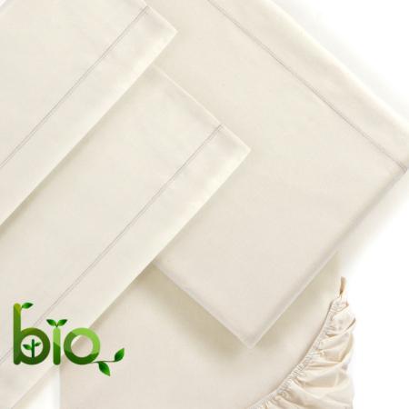 Completo letto cotone bio Mymami greggio naturale