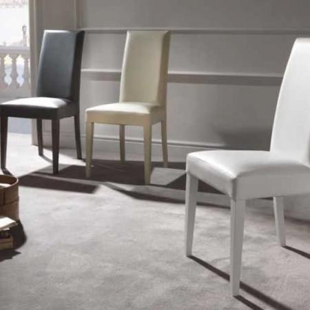 sedia legno imbottita Cream