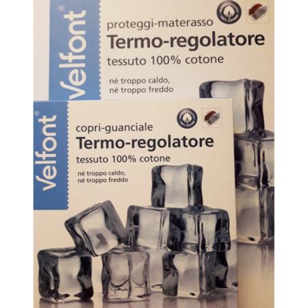 coprimaterasso e copriguanciale termoregolatore Velfont
